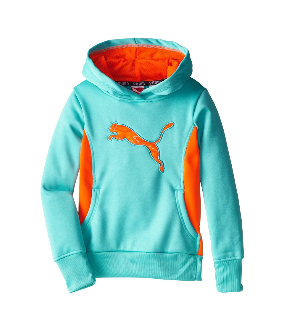Puma Kids - Cat Hoodie with Thumb Hole (Little Kids) (Faster Blue) Girl's Sweatshirt