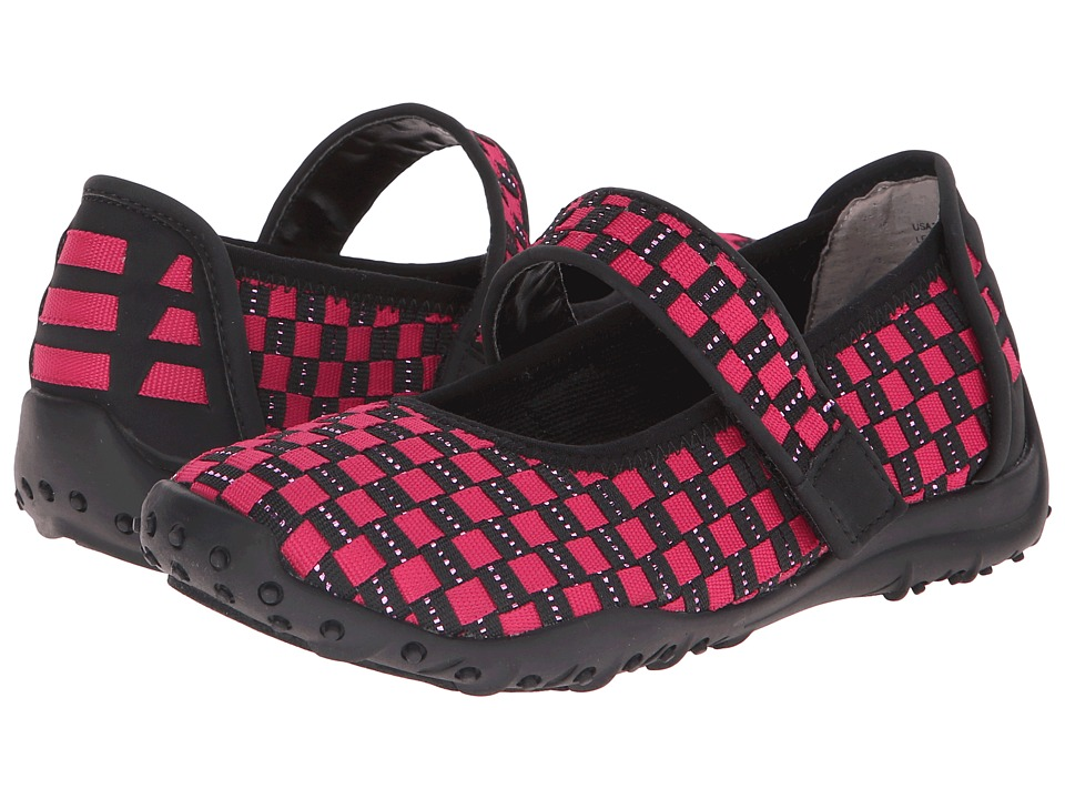 Nina Kids - Angey (Toddler/Little Kid/Big Kid) (Magenta/Black Elastic Webbing) Girl