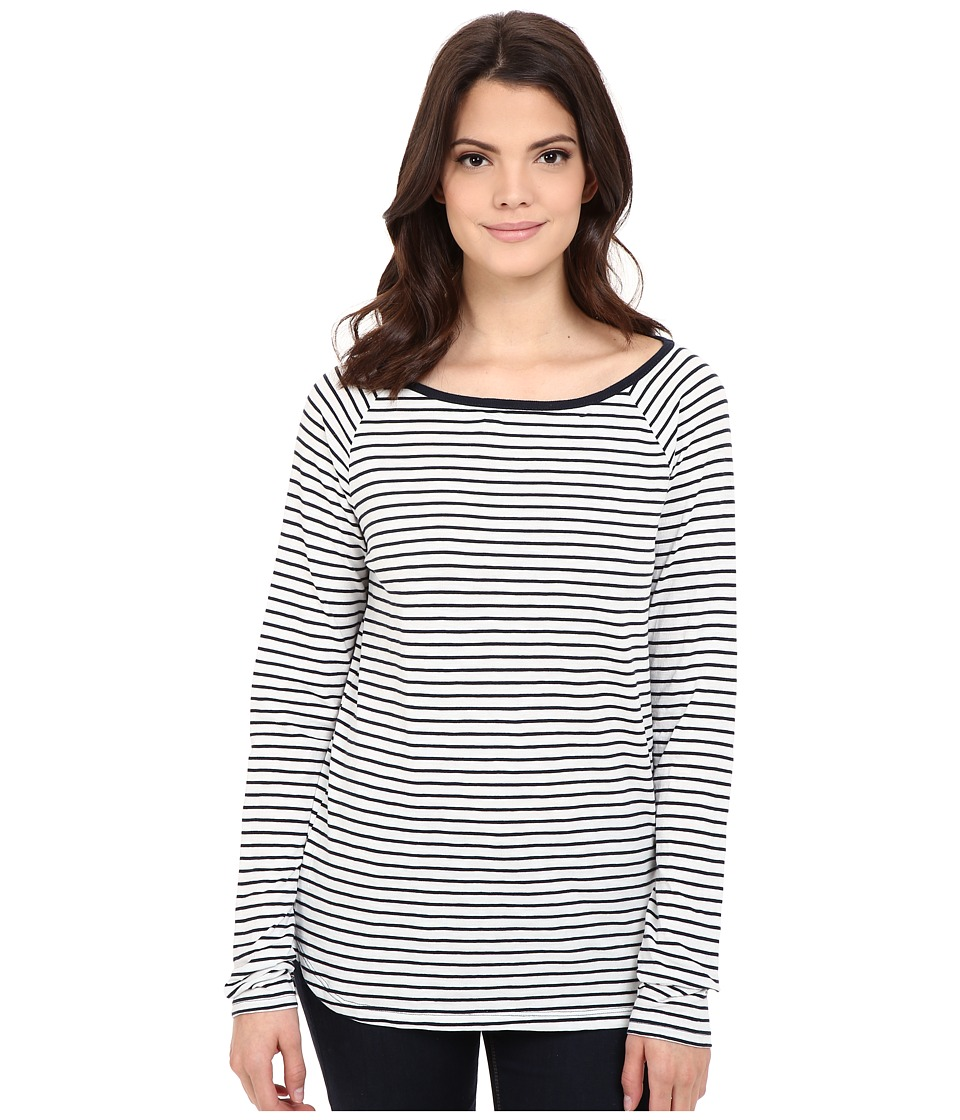 Jag Jeans - Brier Stripe Tee Classic Fit Shirt Striped Jersey (Nautical Navy) Women's T Shirt