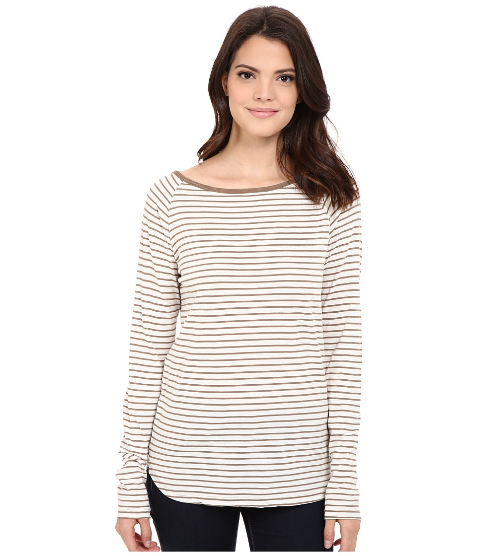 Jag Jeans - Brier Stripe Tee Classic Fit Shirt Striped Jersey (Nutty) Women