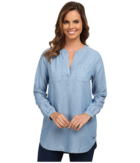 Jag Jeans - Long Sleeve Noah Relaxed Fit Tunic Woven Tops (Mid Vintage) Women's Blouse