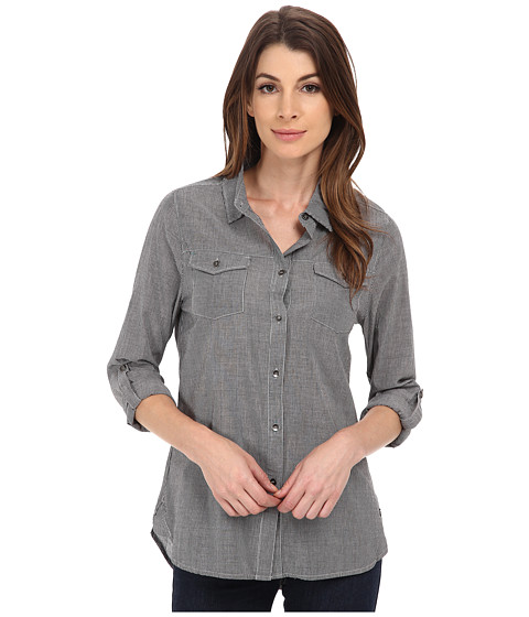 Jag Jeans - Dawn Shirt Classic Fit Shirt Woven Tops (Black Stripe) Women's Long Sleeve Button Up