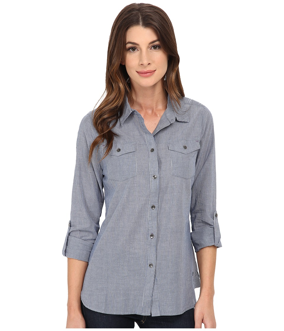 Jag Jeans - Dawn Shirt Classic Fit Shirt Woven Tops (Blue Stripe) Women