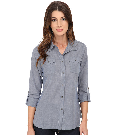 Jag Jeans - Dawn Shirt Classic Fit Shirt Woven Tops (Blue Stripe) Women's Long Sleeve Button Up