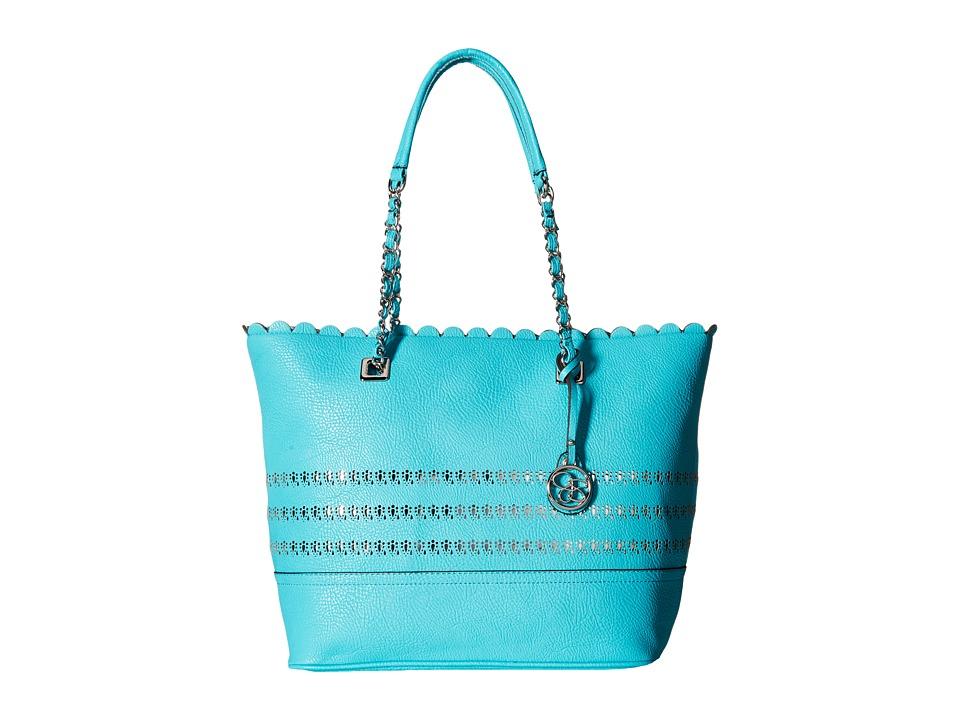 Jessica Simpson - Cameron Tote (Aqua/Silver Foil) Tote Handbags