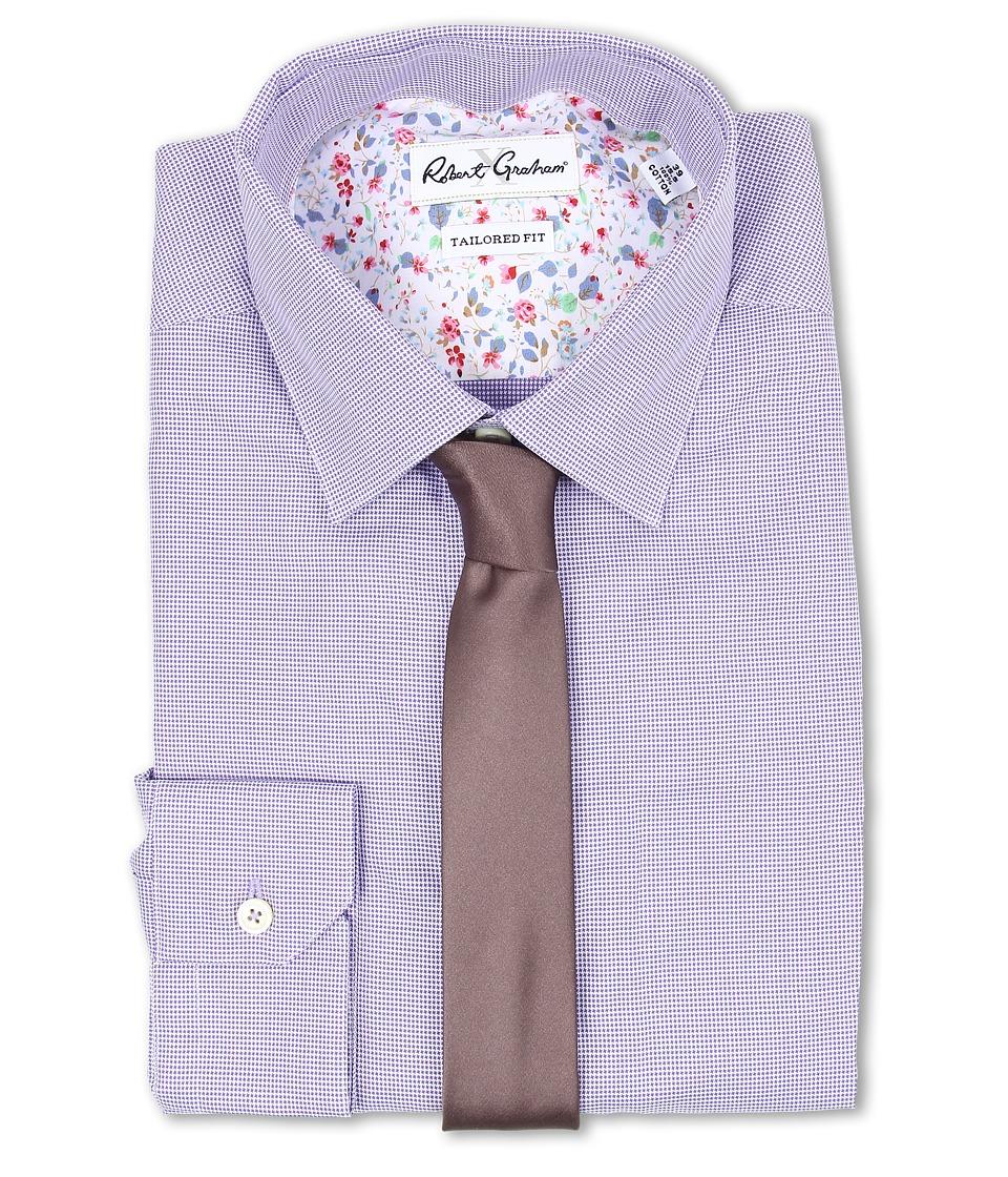 Robert Graham - Salzano Dress Shirt (Purple) Men's Long Sleeve Button Up