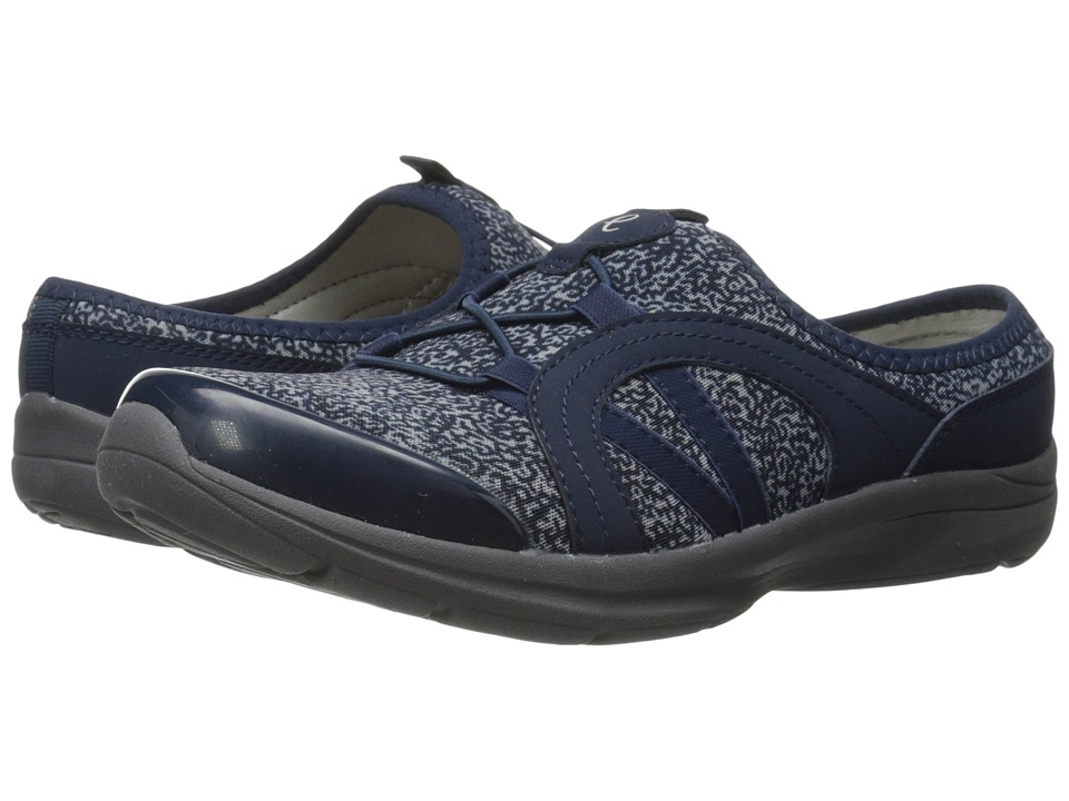 Easy Spirit - Quade (Navy/Light Yellow Multi Fabric) Women's Shoes