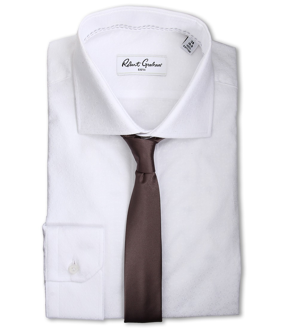 Robert Graham - Elmont Dress Shirt (White) Men's Long Sleeve Button Up