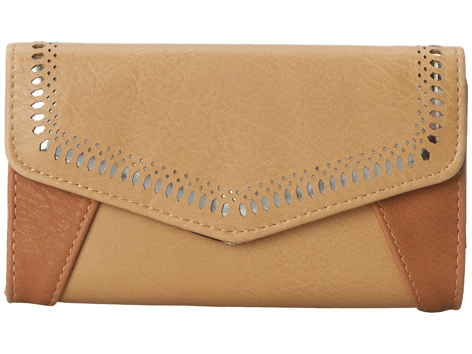 Jessica Simpson - Hazel Med Clutch (Camel/Safari/Gold) Clutch Handbags