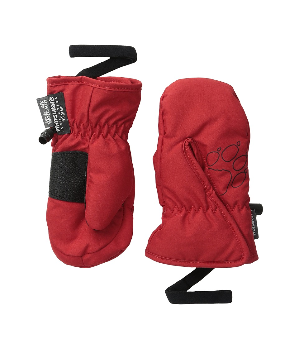 Jack Wolfskin - Easy Entry Mitten (Toddler/Little Kid) (Indian Red) Extreme Cold Weather Gloves