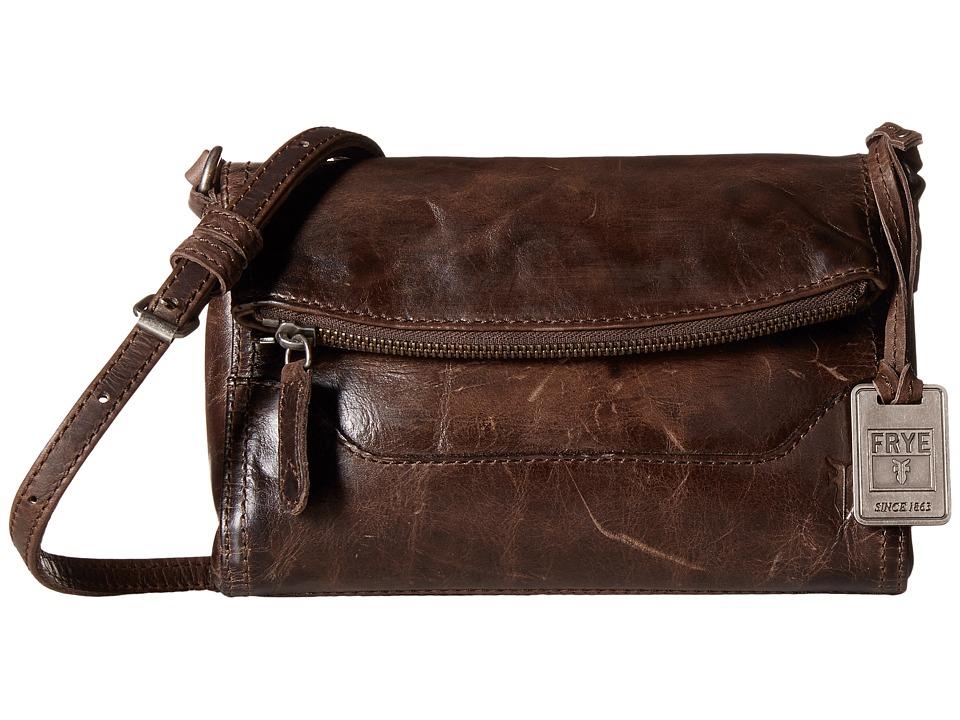 Frye - Melissa Foldover (Slate Antique Pull Up) Shoulder Handbags