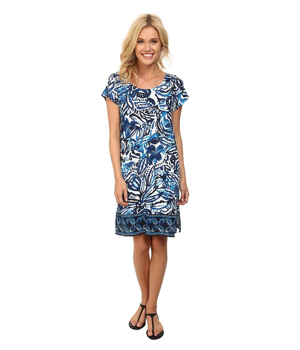 Lucky Brand - Batik Garden Dress (Blue Multi) Women's Dress