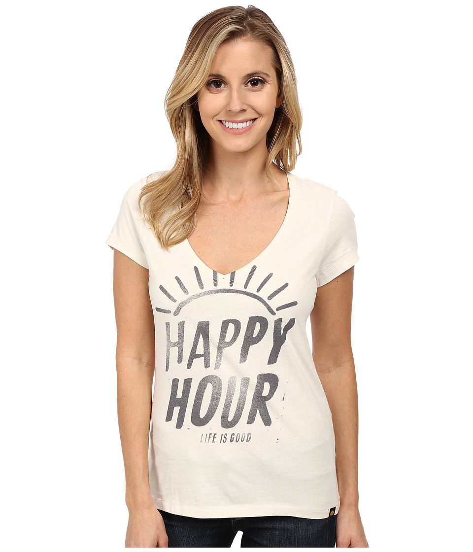 Life is good - Newbury Tee (Simply Ivory 2) Women's Short Sleeve Pullover