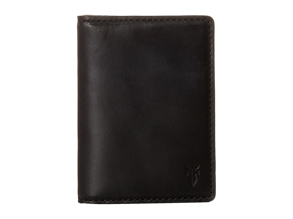 Frye - David Bi-Fold (Black Smooth Pull Up) Bi-fold Wallet