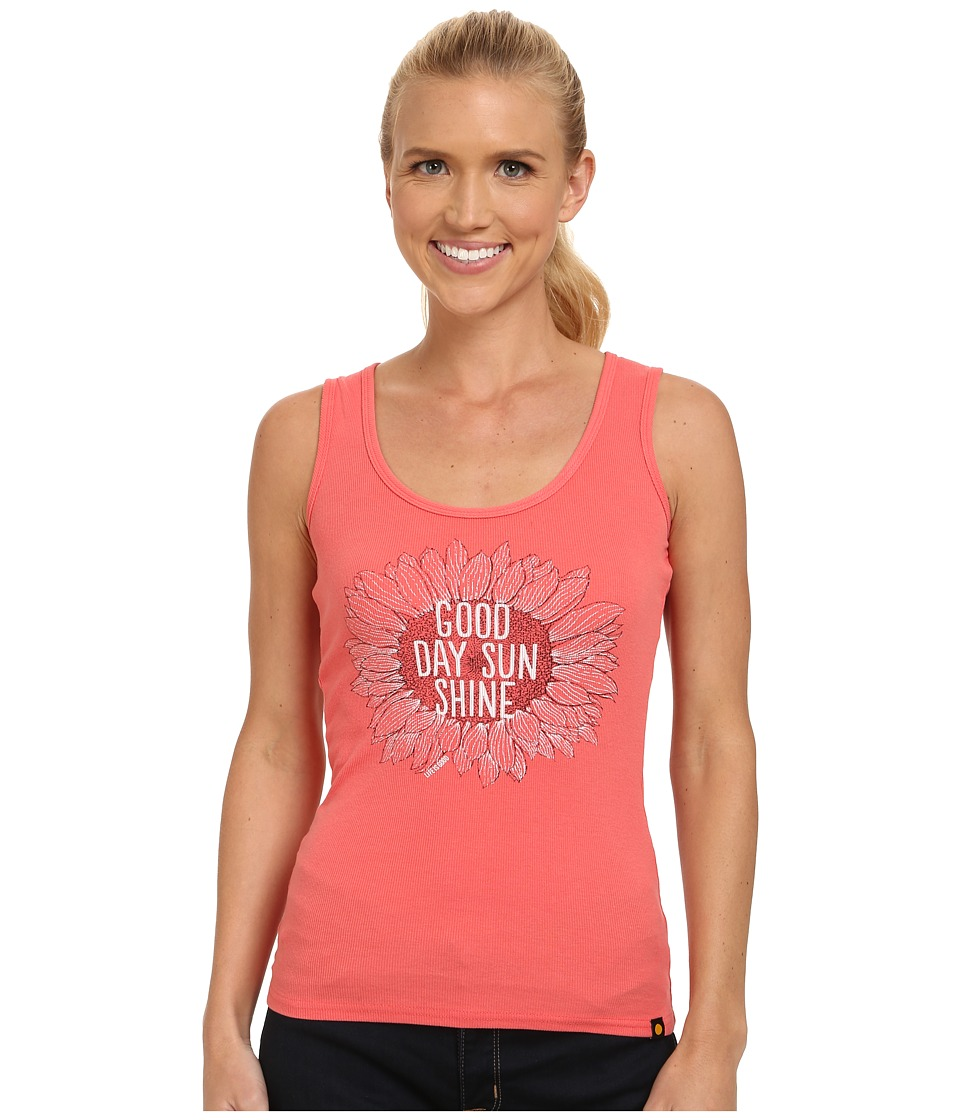 Life is good - Sleeper Tank Top (Sunny Coral) Women's Sleeveless