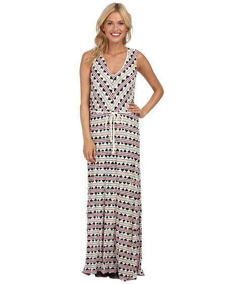 Lucky Brand - Tribal Maxi Dress (Natural Multi) Women's Dress