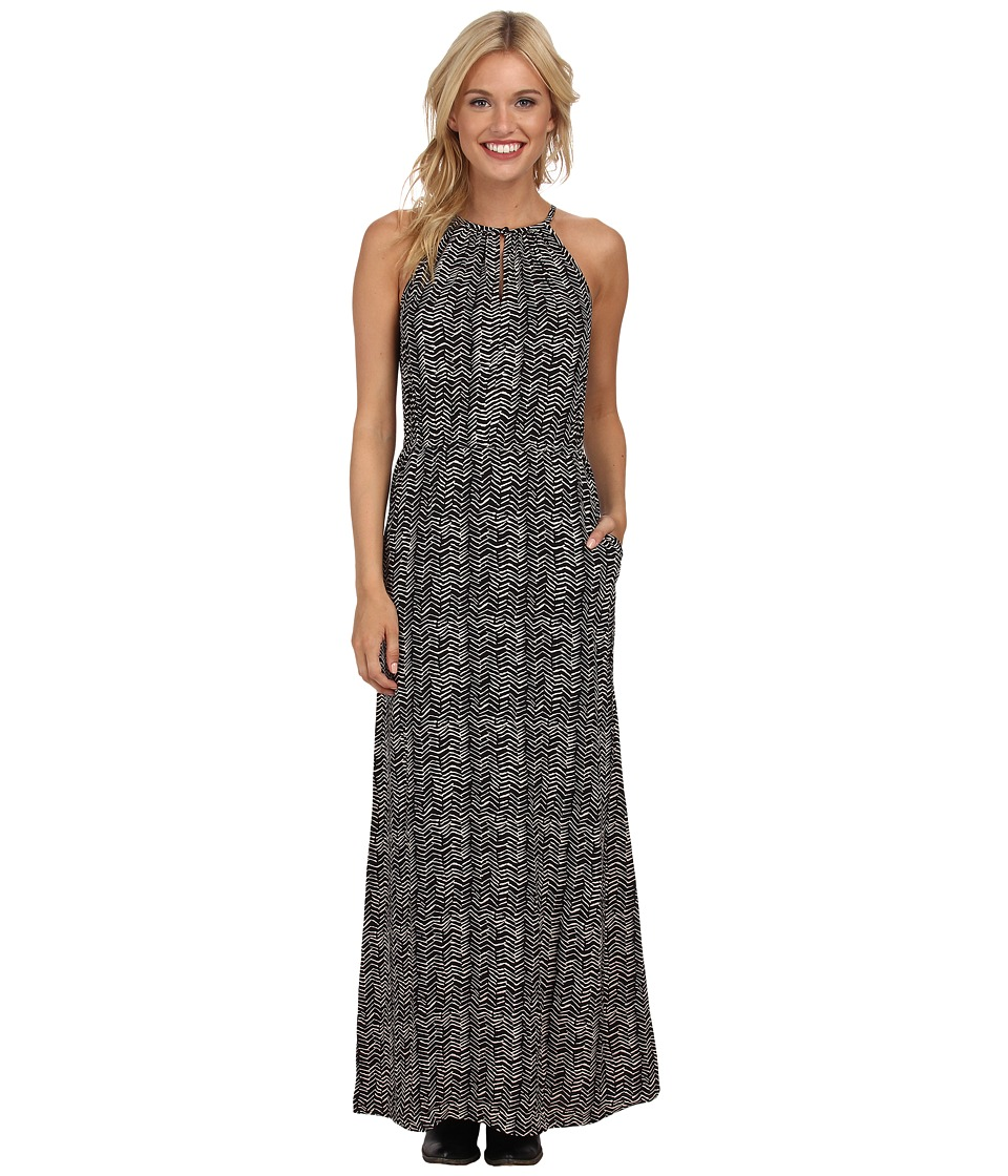 Lucky Brand - Chevron Printed Dress (Black Multi) Women's Dress