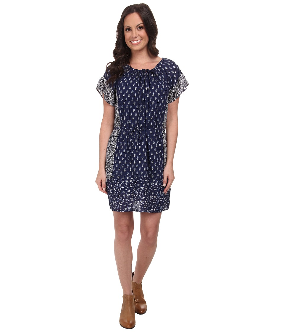 Lucky Brand - Indigo Floral Dress (Navy Multi) Women's Dress