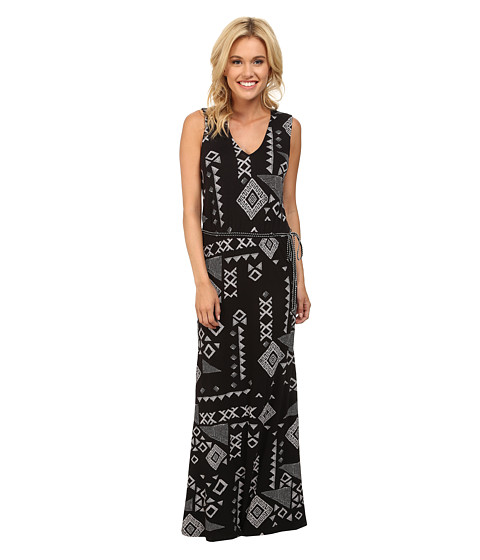 Lucky Brand - Gia Patchwork Dress (Black Multi) Women
