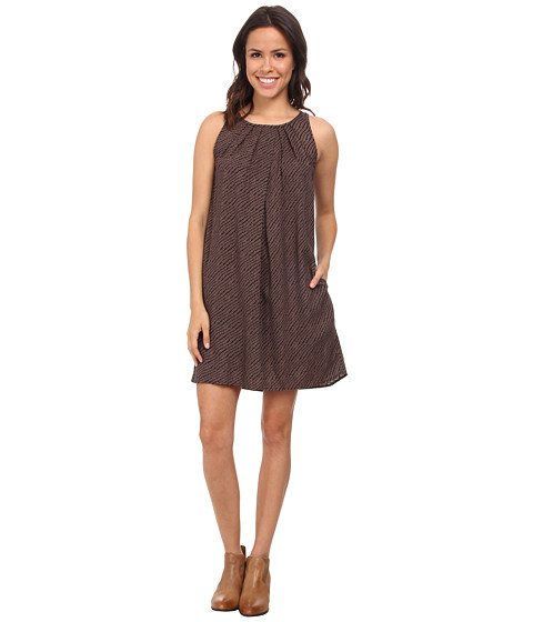Lucky Brand - Ditsy Diamond Dress (Black Multi) Women's Dress