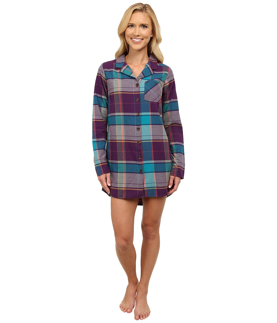 Life is good - Sleep Button Up Shirt (Smoky Plum) Women
