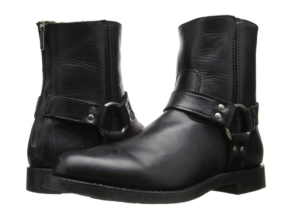 Frye - Clinton Harness Back Zip (Black Oiled Vintage) Men's Zip Boots