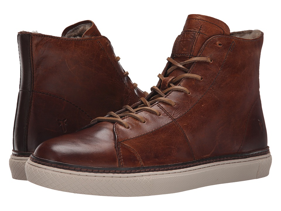 Frye - Gates High (Cognac Antique Pull Up) Men's Lace up casual Shoes