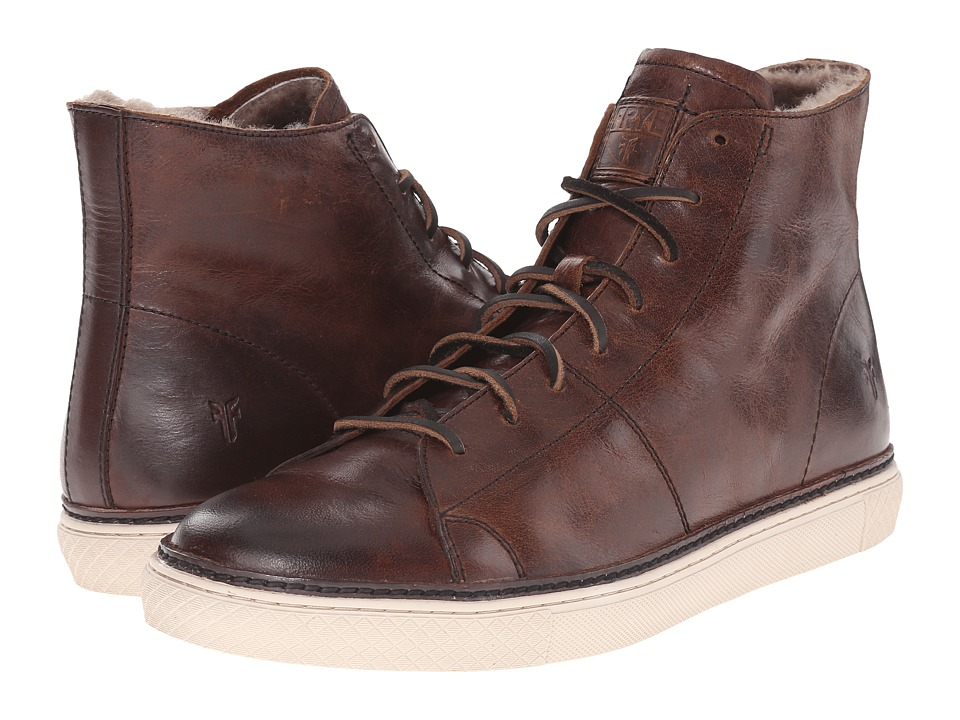 Frye - Gates High (Dark Brown Antique Pull Up) Men's Lace up casual Shoes