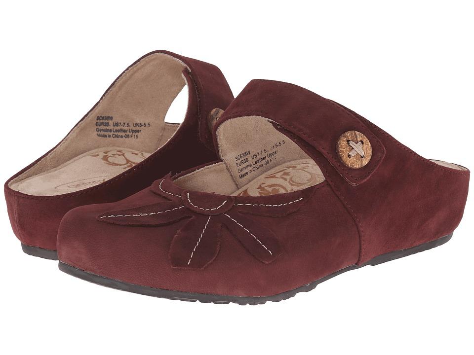 Aetrex - Sandalista Sandra (Merlot) Women's Maryjane Shoes