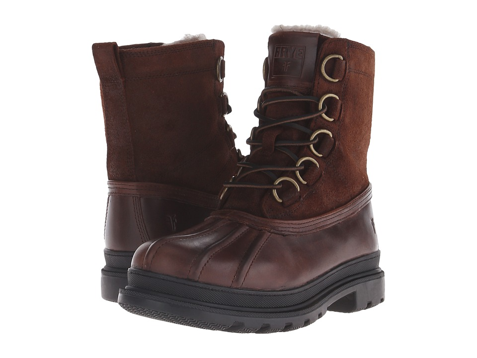 Frye - Riley D Ring Lace (Espresso WP Smooth Pull Up) Men's Lace-up Boots