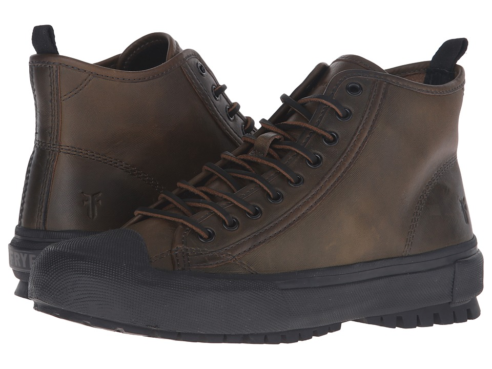 Frye Ryan Lug Mid Lace (Forest WP Textured Smooth Pull Up) Men