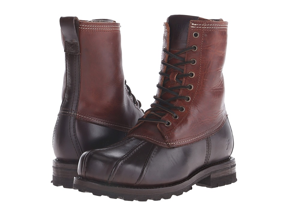 Frye - Warren Duckboot (Espresso Multi WP Smooth Pull Up/Shearling Lined) Men's Boots