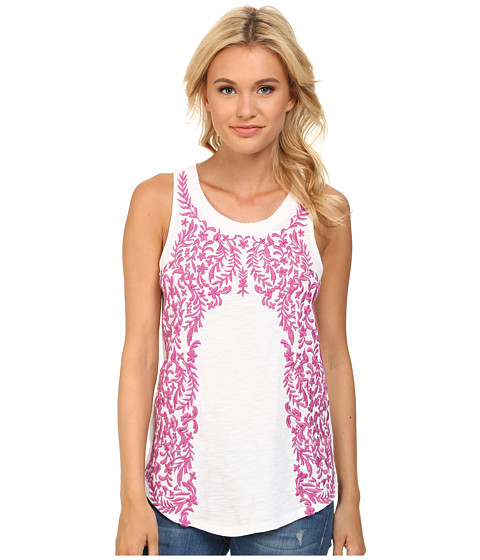 Lucky Brand - Floral Embroidered Tank Top (Lucky White) Women