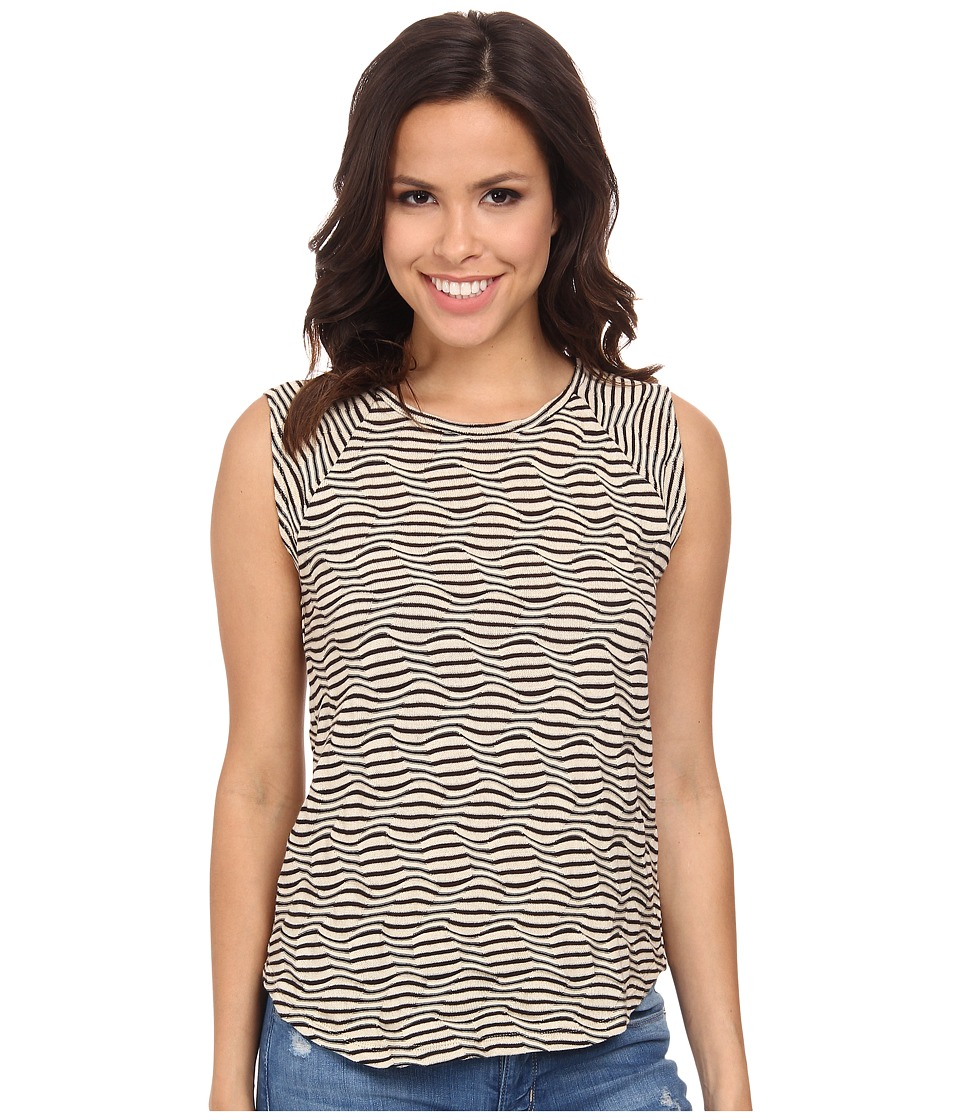 Lucky Brand - Striped Swit Tank Top (Black/Natural) Women's Sleeveless
