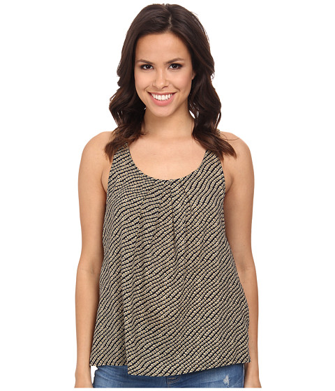Lucky Brand - Ditsy Diamond Tank Top (Black Multi) Women's Sleeveless