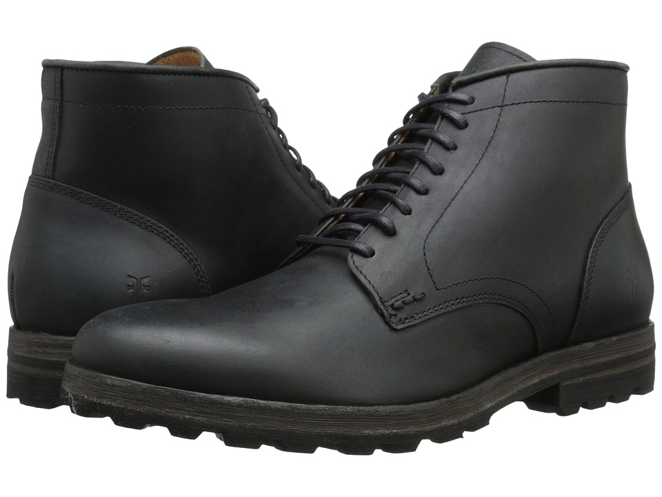 Frye - William Lug Lace Up (Black WP Soft Pebbled Full Grain) Men's Lace-up Boots