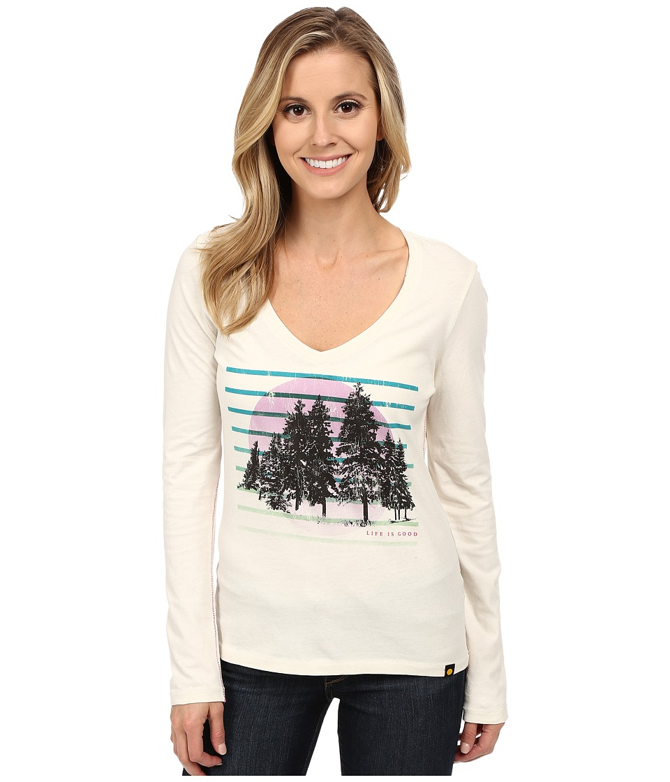 Life is good - Newbury Long Sleeve Tee (Simply Ivory 2) Women's Long Sleeve Pullover
