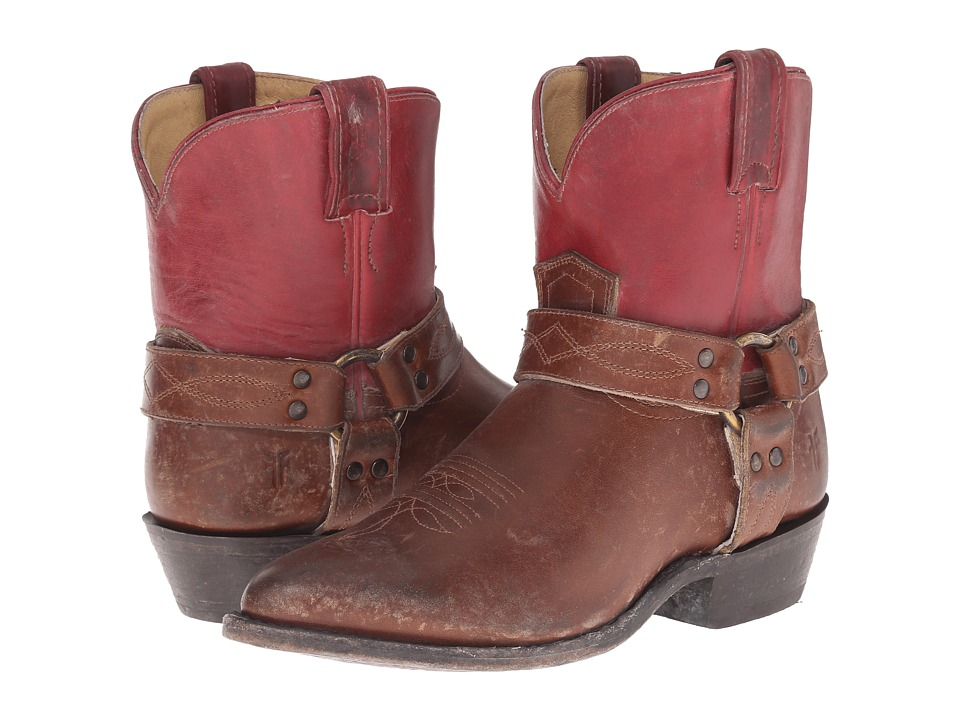 Frye Billy Harness Short (Burgundy Multi Smooth Full Grain/Smooth Pull Up) Cowboy Boots
