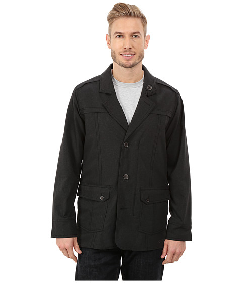 ExOfficio - Ometto Blazer (Black Heather) Men's Coat