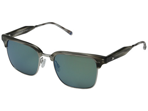 Oliver Peoples West - Ajax (Smoke Tortoise/Brushed Silver/G15 Green Mirror Polarized) Fashion Sunglasses