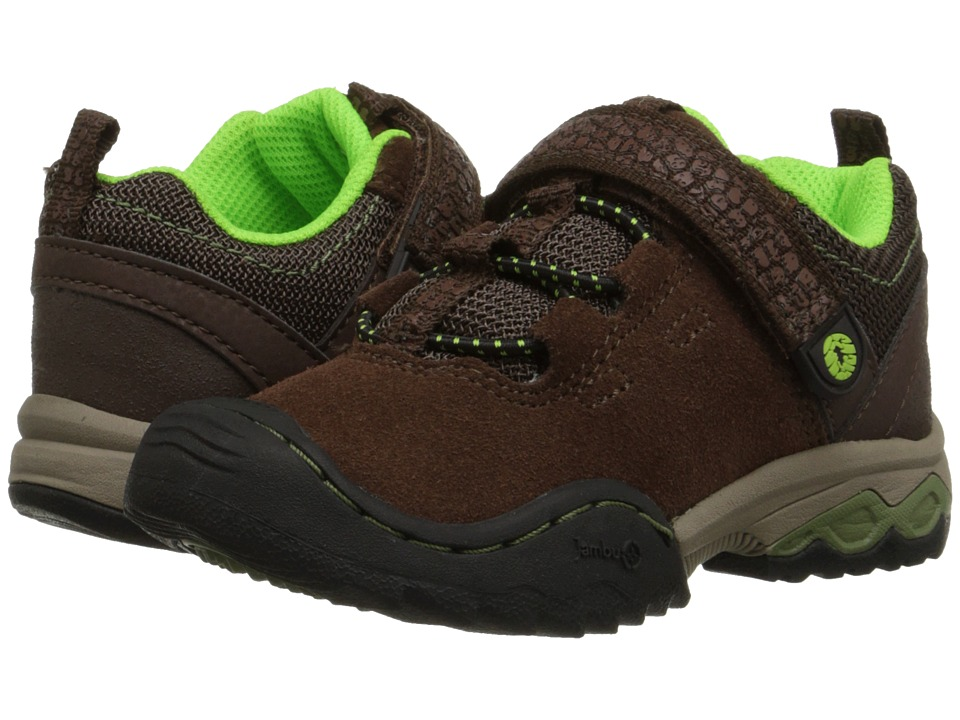 Jambu Kids - Serpent (Toddler/Little Kid/Big Kid) (Brown/Neon Green) Boys Shoes