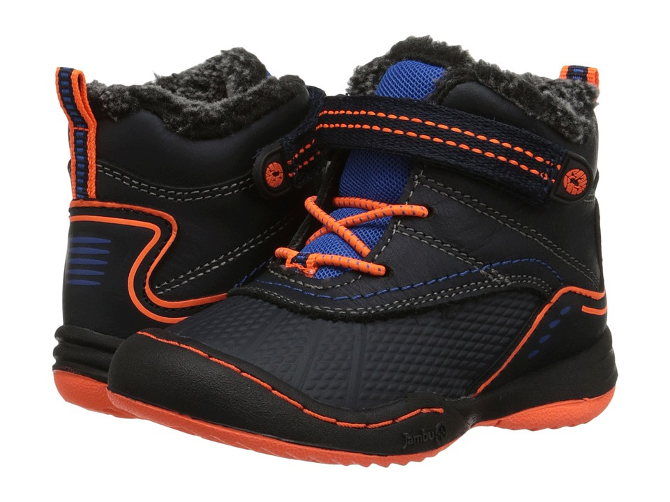 Jambu Kids - Baltoro (Toddler) (Navy/Orange) Boy's Shoes