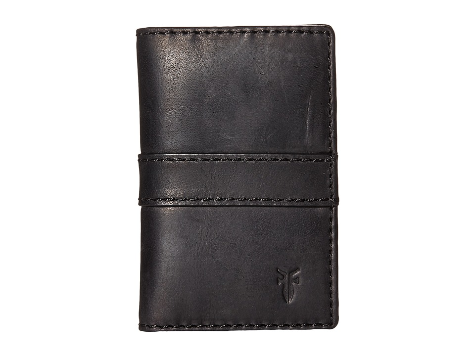 Frye - Oliver Bi-Fold (Black Antique Pull Up) Bi-fold Wallet