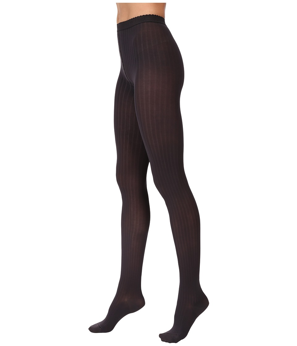 Wolford - Fine Cotton Rib Tights (Raven) Hose