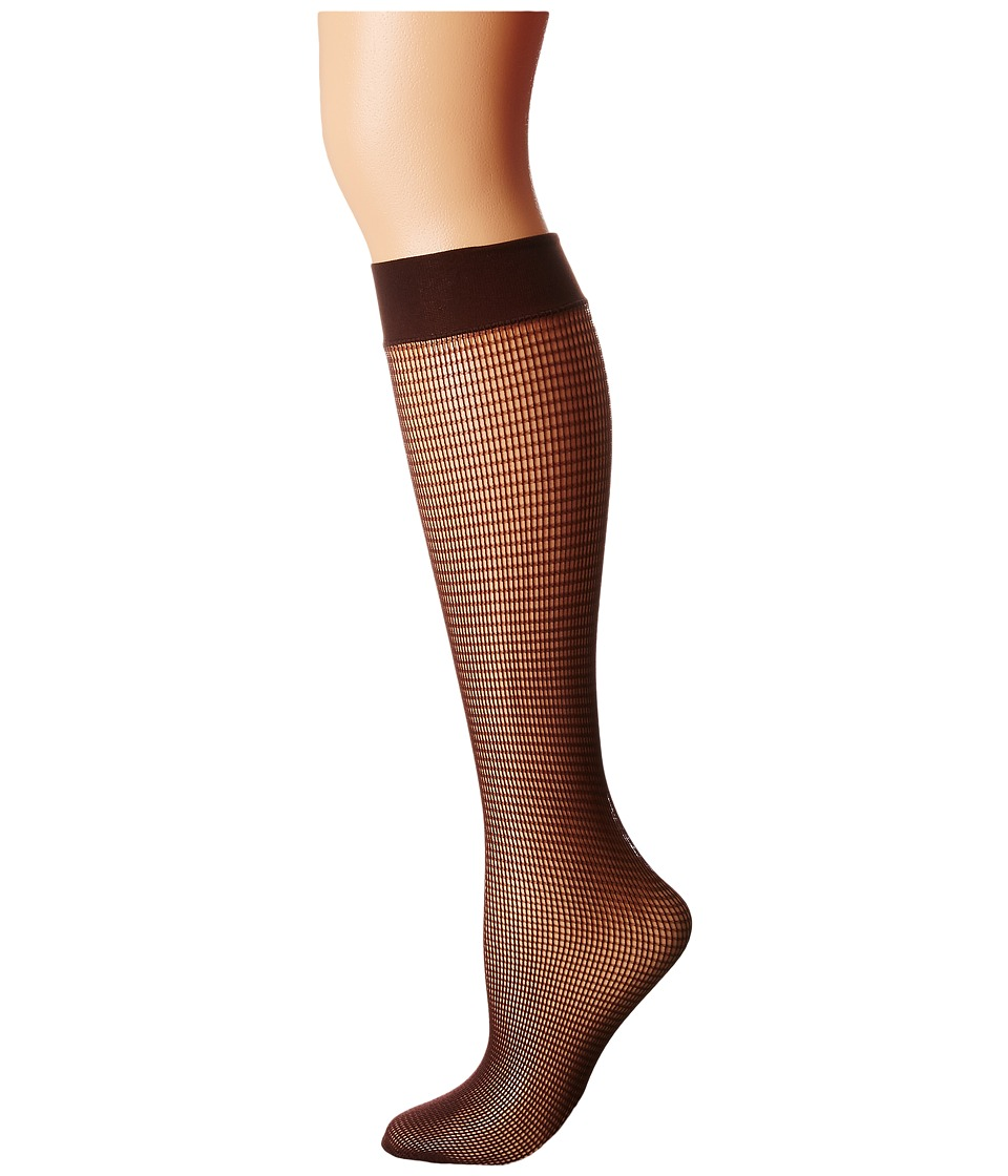 Wolford - Grid Knee-Highs (Java) Women's Knee High Socks Shoes