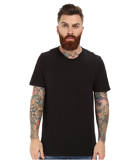 Velvet by Graham & Spencer - Chad Short Sleeve Crew Neck Raw Edge Pocket Slub (Exhaust) Men