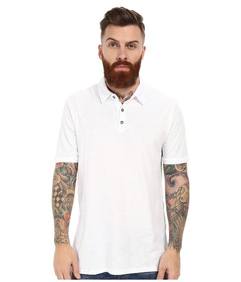 Velvet by Graham & Spencer - Randall Short Sleeve Polo Slub (White) Men