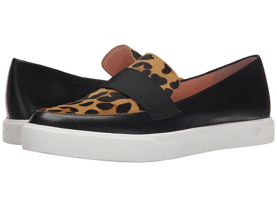 Kate Spade New York - Clove (Black Nappa/Natural Leopard Print Haircalf) Women's Slip on Shoes