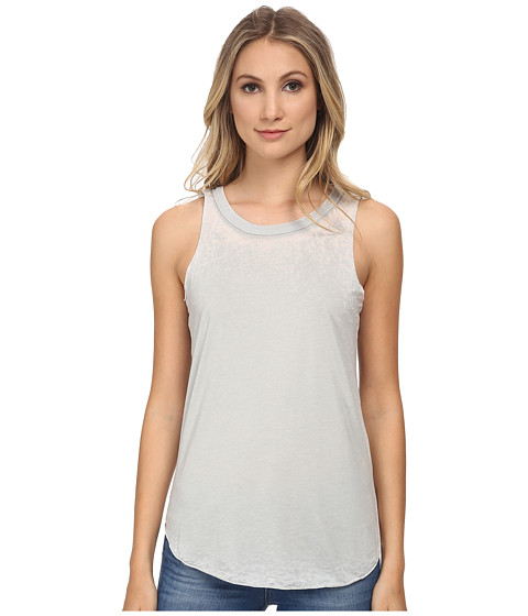 Chaser - Cross Back Shirttail Muscle Tank Top (Mouse) Women's Sleeveless