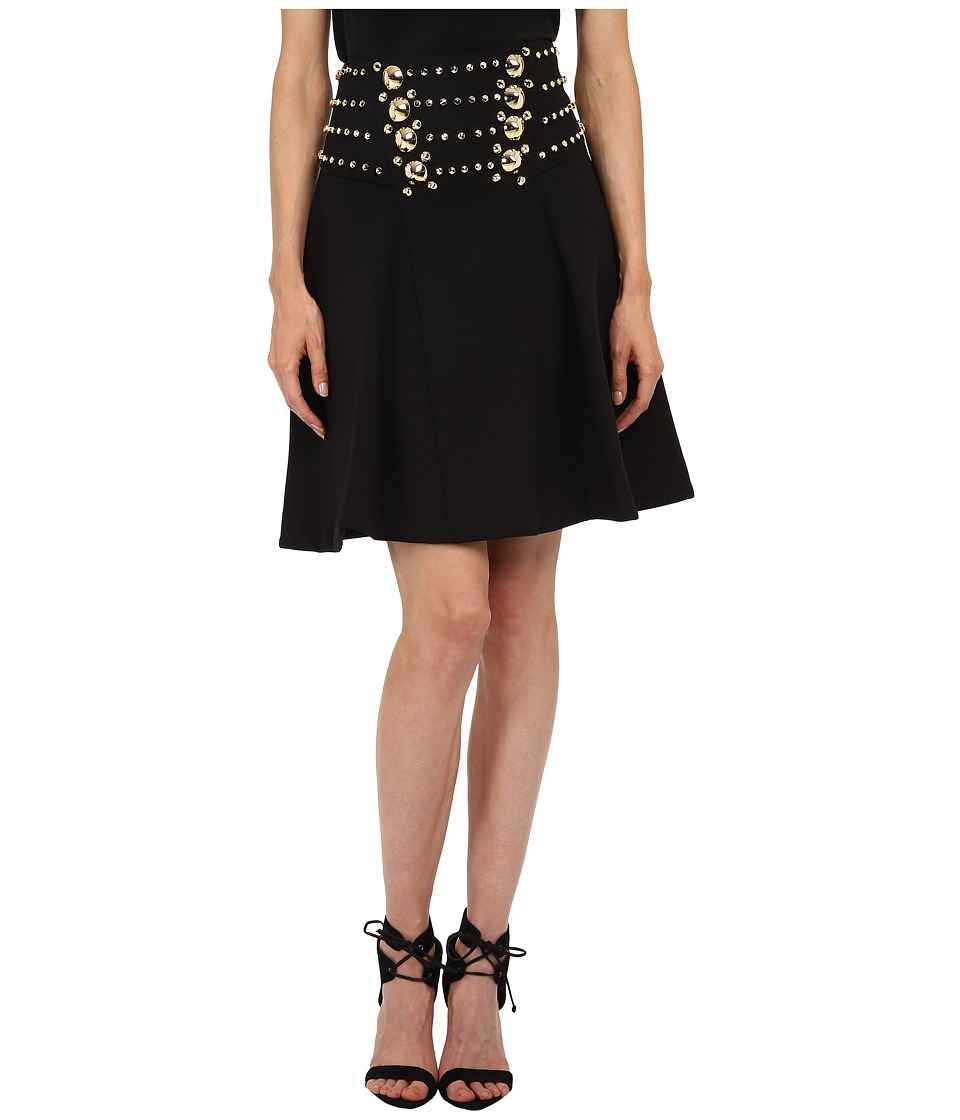 Versace Collection - Embellished Skirt (Nero) Women's Skirt